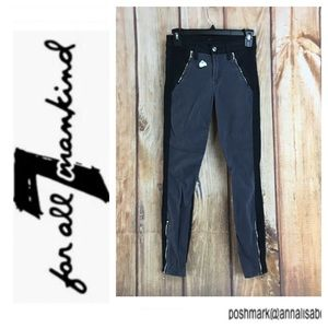 🐞7 for All Mankind Gray/Black Skinny Pant size 24